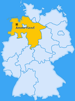 Kreis Ammerland Landkarte