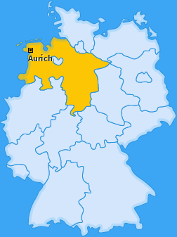 Kreis Aurich Landkarte