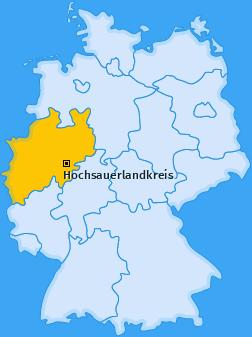 Kreis Hochsauerlandkreis Landkarte