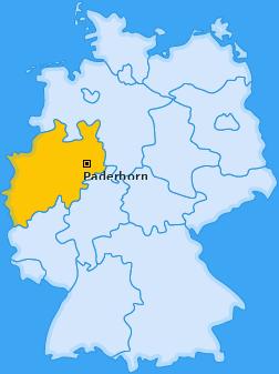 Kreis Paderborn Landkarte