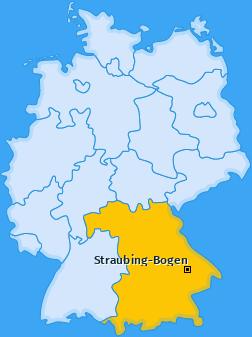 Kreis Straubing-Bogen Landkarte