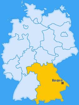 Kreis Regen Landkarte