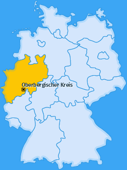 Kreis Oberbergischer Kreis Landkarte