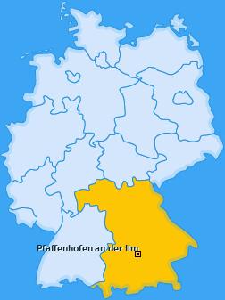 Kreis Pfaffenhofen an der Ilm Landkarte