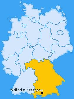 Kreis Weilheim-Schongau Landkarte