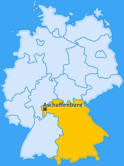 Kreis Aschaffenburg Landkarte