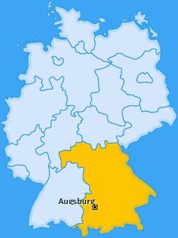 Kreis Augsburg Landkarte