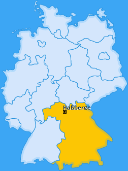 Kreis Haßberge Landkarte