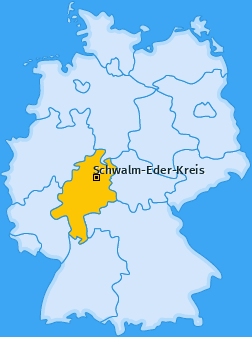 Kreis Schwalm-Eder-Kreis Landkarte