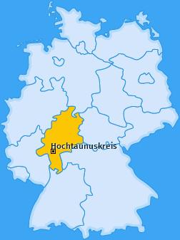Kreis Hochtaunuskreis Landkarte