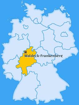 Landkreis Waldeck-Frankenberg Landkarte