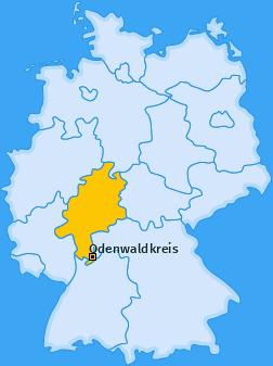Kreis Odenwaldkreis Landkarte