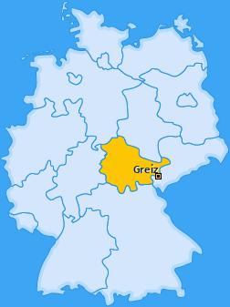 Kreis Greiz Landkarte