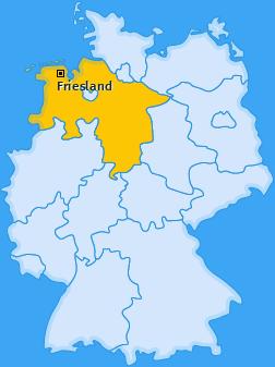 Kreis Friesland Landkarte