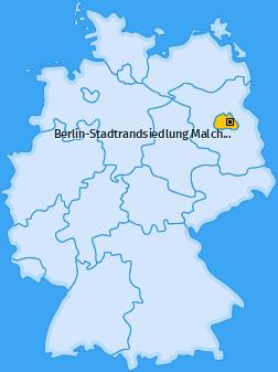 Karte von Berlin-Stadtrandsiedlung Malchow