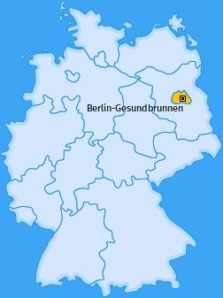 Karte von Berlin-Gesundbrunnen