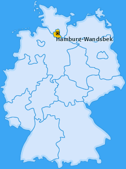 Karte Wandsbek Hamburg-Wandsbek