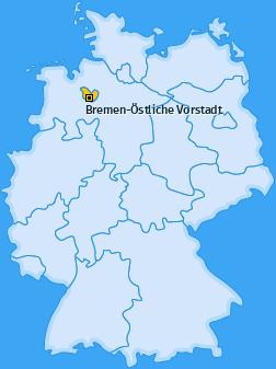 Karte Peterswerder Bremen-Östliche Vorstadt