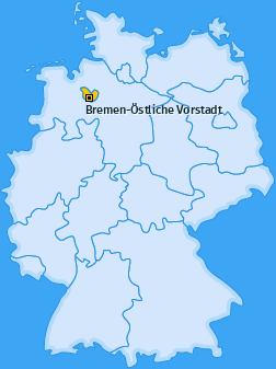 Karte von Bremen-Östliche Vorstadt