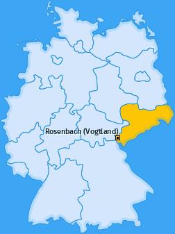 Karte von Rosenbach (Vogtland)