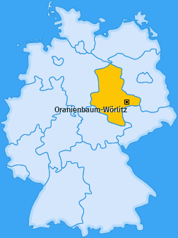 Karte von Oranienbaum-Wörlitz