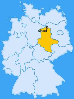 Karte von Aland