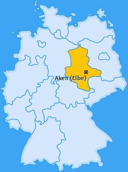 Karte von Aken (Elbe)