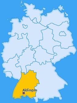 Karte von Aldingen