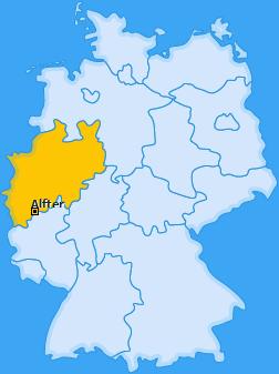 Karte von Alfter