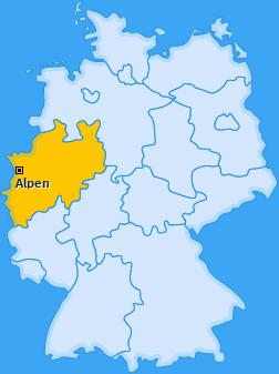 Karte von Alpen