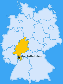 Karte von Alsbach-Hähnlein
