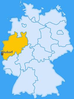 Karte von Alsdorf