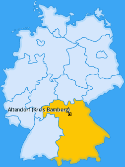 Karte von Altendorf (Kreis Bamberg)