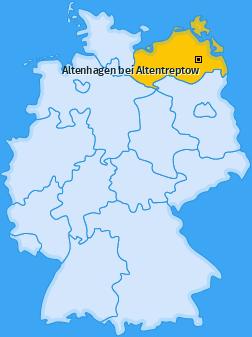 Karte von Altenhagen bei Altentreptow