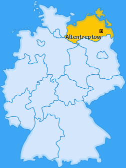 Karte von Altentreptow