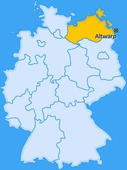 Karte von Altwarp