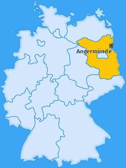 Karte von Angermünde