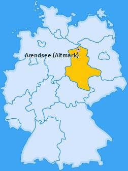 Karte von Arendsee (Altmark)