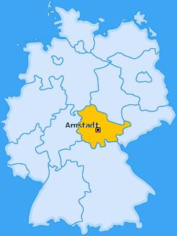 Karte Angelhausen-Oberndorf Arnstadt