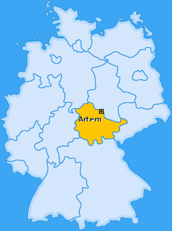 Karte von Artern/Unstrut