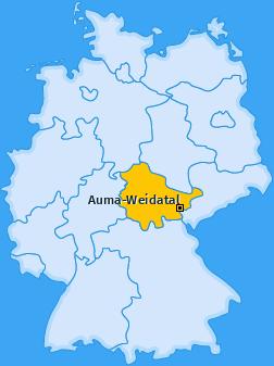 Karte von Auma-Weidatal