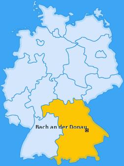 Karte von Bach an der Donau