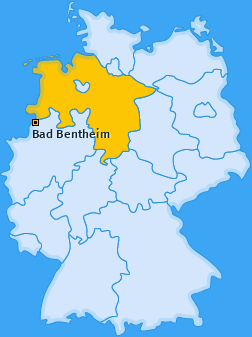 Karte von Bad Bentheim