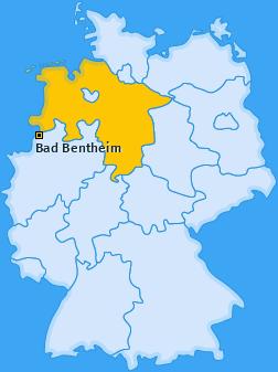 Karte von Bad Bentheim