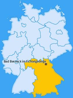 Karte von Bad Berneck im Fichtelgebirge
