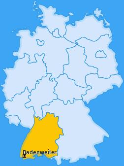 Karte von Badenweiler