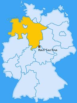 Karte von Bad Sachsa