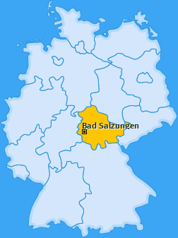 Karte von Ettenhausen an der Suhl