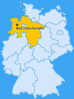 Karte von Bad Zwischenahn
