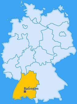 Karte von Balingen